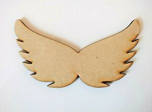 Wooden Angel Wings MDF Craft Shapes, Blank, Scrapbook, Decoration Embellishments