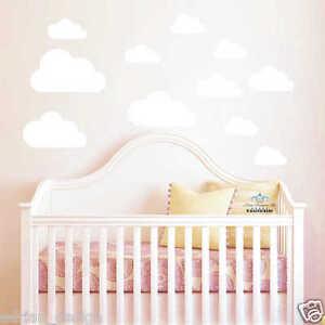 Cloud Wall Sticker Decals Kids Nursery Children Room 10 pieces