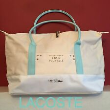 LACOSTE L.12.12 POUR ELLE CREAM HOLDALL -WEEKEND-TRAVEL-GYM BAG NEW & SEALED!!!