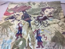 Pirates of the Caribbean Davy Jones Jack Sparrow Twin Set Fabric 3pc Sheet