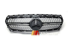 Diamond Radiator Style Front Hood Black Grille Grill for Mercedes W117 CLA CLASS
