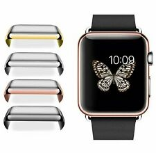 Apple Watch 1/2/3/4 38/42mm 40/44mm  Full Cover Snap On Screen Protector Case