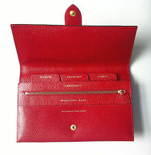 Authentic SMYTHSON travel wallet red leather passport currency gold foil block