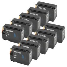 10 BLACK 932XL 933XL Ink Cartridge for HP Officejet 6100 6700 6600 7100-New Chip