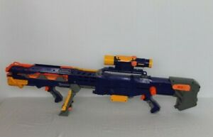 Nerf Longshot CS-6 CS N-Strike Sniper Complete Blue Gun 6 Darts Tested Working