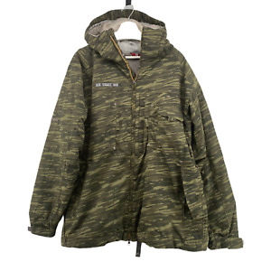 686 Mens Mannual Ski Snowboard Hooded Snow Jacket Size XL Green Tiger Camo