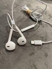 Genuine Apple IPhone Lightning Connector Wired Earpods Headset Headphones