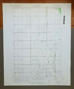 "Lockhart, Minnesota Original Vintage 1965 USGS Topo Map 27"" x 22"""