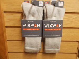 2 Pack Wigwam S2322 Merino Comfort Hiker Khaki Medium men 5-9.5 women 6-10 New