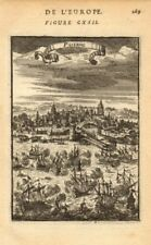PALERMO. Decorative view of the port & town. Sicily. 'Palerme'. MALLET 1683