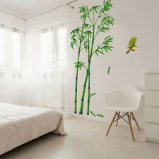 Removable Art PVC Quote DIY Green Bamboo Birds  Wall Sticker Mural Home Decor