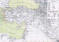 Echte 157 Jahre alte Landkarte Türkei TÜRKİYE Osmanlı İmparatorluğu Syrien 1860