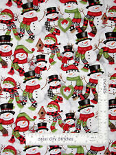 Christmas Snowman Allover Cotton Fabric Studio E Snow Place Like Home By Yard