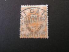 *ERITREA, SCOTT # 16, 20c. VALUE ORANGE 1895 ITALY STAMPS OVPT KING HUMBERT USED
