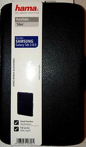 Hama Portfolio Slim Samsung Galaxy Tab 3 8.0 Tasche -Hülle mit Eckenschutz Tab3