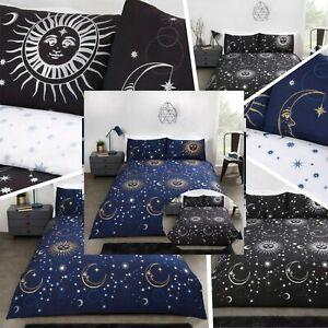 Bedding Heaven® REVERSIBLE MOON, STARS, ASTROLOGY DUVET COVER - CELESTIAL