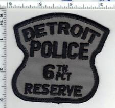 Detroit Police (Michigan) 6th Precinct Reserve Shoulder Patch - new 1980's