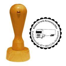 Stempel « LKW TRUCK » Adressenstempel Motiv Name Trucker Kraftfahrer Fahrer Tour