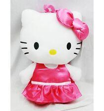 "NWT Sanrio Hello Kitty Plush Doll Backpack 15"" Ballerina with Tutu Satin Pink"