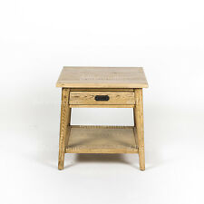 NEW Danish Style Oak Natural Lacquered Timber  1 Drawer Side Table / Bedside