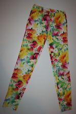 NUEVO Gap Kids OUTLET Amarillo Brillante leggins de flores talla 10-11 Año