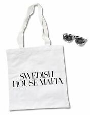 SWEDISH HOUSE MAFIA 2-PIECE SET: WHITE TOTE BAG & METALLIC SUNGLASSES NEW
