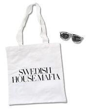 SWEDISH HOUSE MAFIA 2-PIECE SET: WHITE TOTE BAG & METALLIC SUNGLASSES NEW