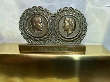 queen elizabeth coronation 1953 11 items from bronze desk sign to weaved tray