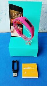 AVIA Touch Bluetooth Activity Tracker Bracelet Pink, Calories, Set Goals, Sleep