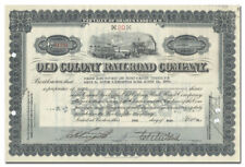 Old Colony Railroad Company Stock Certificate