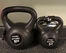 NEW 2 Kettlebells 5lb And 10lb Pro Strength Brand - 15lbs. Total. - PAIR!