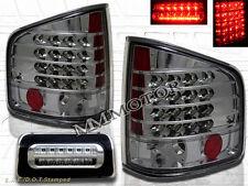 94-04 Chevy S10 GMC Sonoma Pickup Truck Smoke LED Tail Lights & 3rd Brake Lights