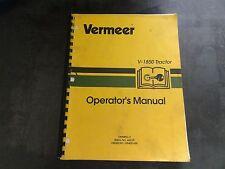 Vermeer V-1850 Tractor Operator's Manual    OMMR95-2