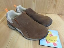 Cherokee Slip On Loafers Boys Size 1 Brown Faux Suede Athletic