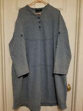 O-necue 4XL Jean dress with side pockets.