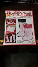 MERRY REDWORK SUZANNE MCNEIL DESIGNS EMBROIDERY PATTERN FREE SHIPPING