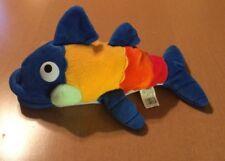 """Fiesta Bean Bag Colorful Fish Plush Named Gus 13"""""""