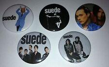 5 Suede pin Button badges Sci-Fi Lullabies Dog Man Star Coming Up Head Music