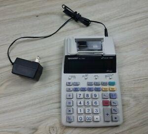 Sharp EL-1750V 2 Color Print Calculator 12 Digit TESTED WORKS GREAT AC / Battery