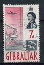Gibilterra 1960-2 SG # 167, 7D BOCCHETTONE USATO #A 75262