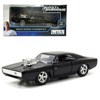 Jada Fast & Furious 1:32 Diecast Dom's Dodge Charger R/T Car Black Model Collect