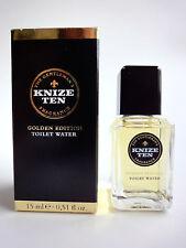 new KNIZE TEN -Golden Edition- Toilet Water EDT Splash 15 ml  0.51 fl.oz  NIB !