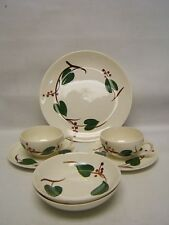 """Blue Ridge """"Stanhome Ivy"""" Lot of Dinner Plate C & S 2 sets, 2 Fruit Bowls"""
