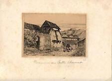 Eau forte originale de Pequegnot, Buttes Chaumont