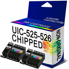 10 ink Cartridge PGI525 CLI526 CHIPPED for Canon PGI525 Black CLI526 BCMY MG5350