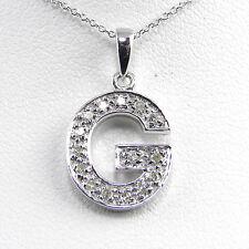 "14KT Genuine Diamond Initial ""G"" With 14KT Chain"