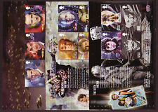 GREAT BRITAIN 2013 DOCTOR WHO SET OF 3 PANES UNMOUNTED MINT.