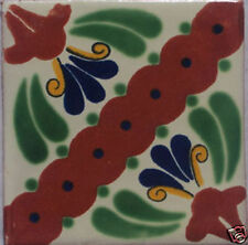 9 Mexican Decorated Handcrafted Ceramic Tile Talavera C046