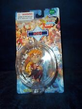 "2000 Capcom Toynomi ""Street Fighter""  4"" ""Ken"" Key Chain 2 1/2"" Figure MIP"