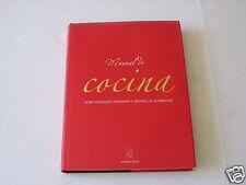 MANUAL DE COCINA PARRAGON HARDCOVER SPANISH LANGUAGE TEXT COOKING COOKBOOK NICE